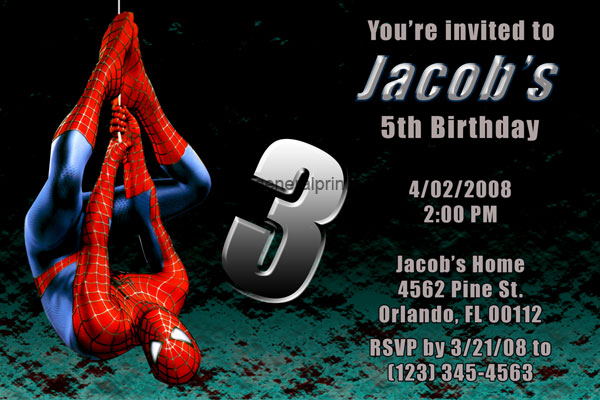 Spiderman Invitation #2