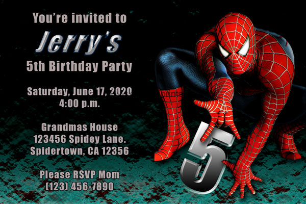 Spiderman Invitation #3