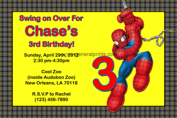 Baby Spiderman Invitation