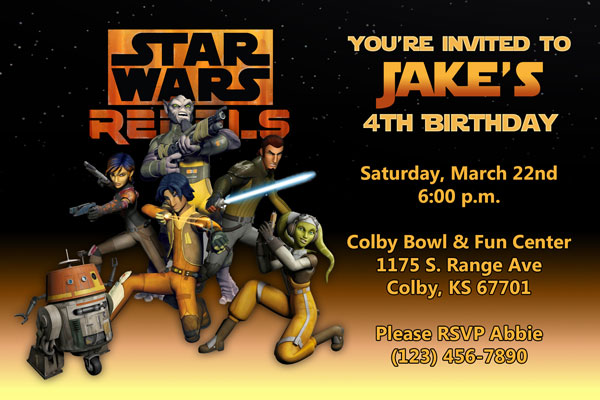 star wars rebels invitations