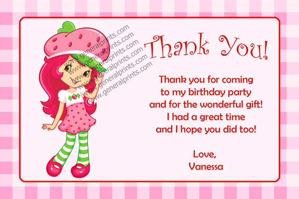 Strawberry Shortcake Invitations General Prints – Strawberry Shortcake Birthday Card
