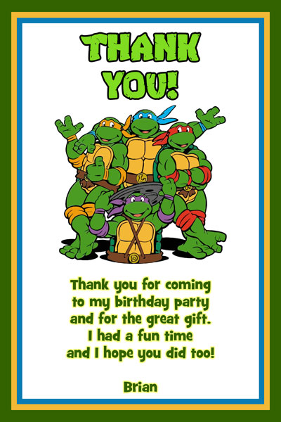 Personalized Ninja Turtle Birthday Invitations for good invitation template