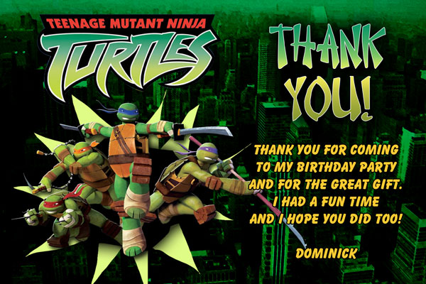 Teenage Mutant Ninja Turtles Thank You #2
