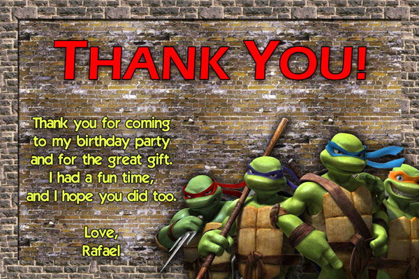 Teenage Mutant Ninja Turtles Thank You #3
