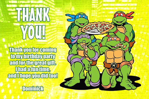Teenage Mutant Ninja Turtles Thank You #1