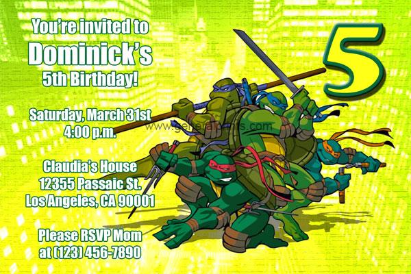 Printable Tmnt Invitations | Party Invitations Ideas