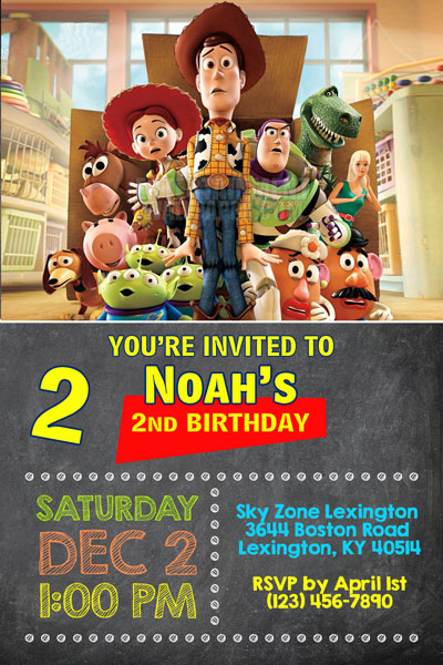 toy story invitations general prints