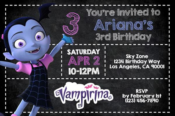 vampirina invitations