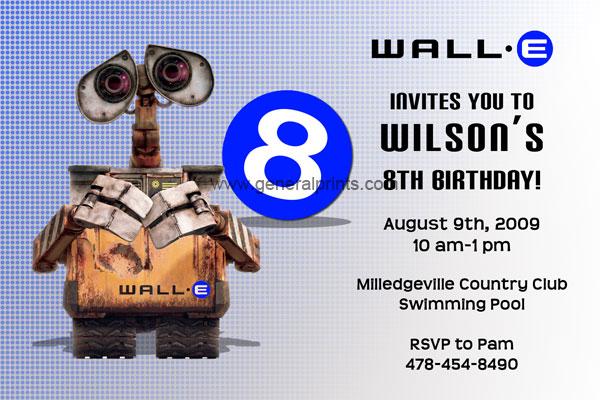 Wall E invitations General Prints