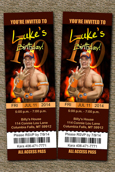photograph regarding Wwe Birthday Invitations Printable Free known as WWE Invites John Cena, The Rock, Daniel Bryan and extra