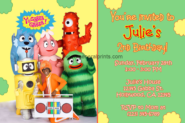 yo gabba gabba invitations - general prints, Wedding invitations