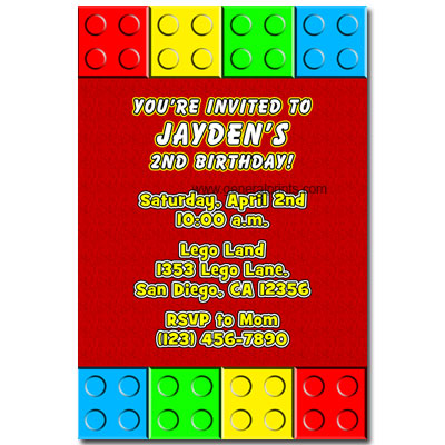 Lego Birthday Invitation and get inspiration to create nice invitation ideas