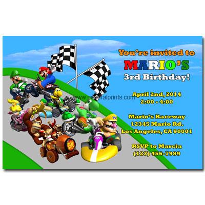 Super Mario Broscups44938 – Mario Kart Party Invitations