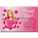 barbie thank you card