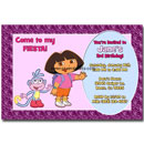 custom dora invitations