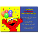 Printable Elmo invitation