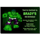 the incredible hulk party invitations