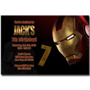 printable iron man invitations personalized