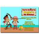 Printable Jake & the Neverland Pirates Invitations