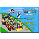 personalized mario kart invitations