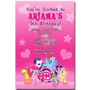 personalized my little pony invites