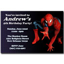 spider-man invitations