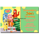 yo gabba gabba custom invitations printable card