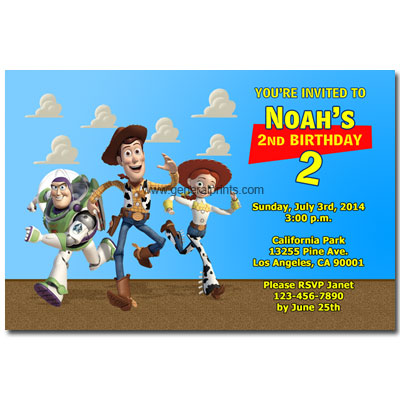 toy story invitations