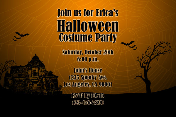 Printable Halloween Party Invitations by General Prints